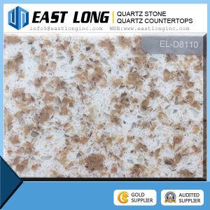 Double-Color Quartz Surface Countertop Multicolor Quartz Stone Big Slabs pictures & photos