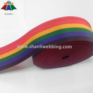 6cm Polypropylene Striped Rainbow Webbing pictures & photos