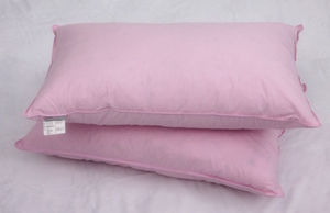 Pink Feather and Down Cotton Pillow
