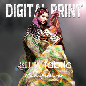 Print Textile of Fabric for Silk Garment Making / Print on Silk pictures & photos