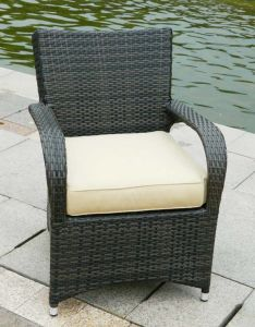 Garden Wicker Chair with Soft Cushion pictures & photos