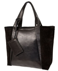 Fashionable Leather Tote Bag Black (LDO-15269) pictures & photos