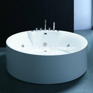 Simple Design Round Whirlpool Massage Bathtub (SR569) pictures & photos