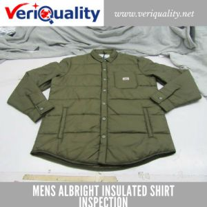 Mens Albright Insulated Shirt Quality Control Inspection Service at Qingyuan, Guangdong pictures & photos