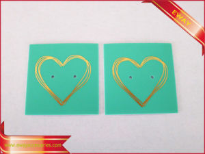 Gold Stamping Logo PVC Earring Tag Jewelry Hang Tag pictures & photos