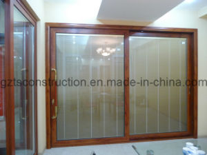 Thermal Break New Design Aluminum Sliding Door with Tempered Glass pictures & photos