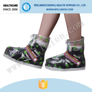 Disposable Cute PVC Waterproof Non-Skip Rain Boot Cover pictures & photos