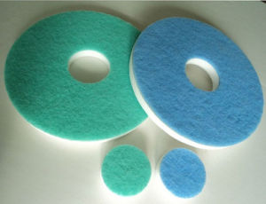 Cleaning Floor Pad Melamine Foam Sponge with Scouring Pad China Sponge Manufacture Supplier pictures & photos