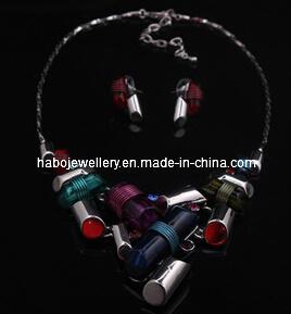 Square Stone Jewelry Set/Fashion Necklace Set (XJW13217) pictures & photos