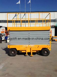 4m Hydraulic Scissor Lift Aerial Working Platform pictures & photos