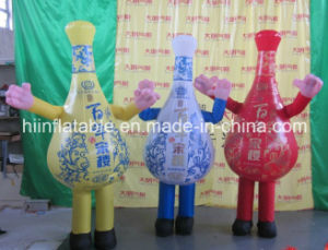 Hot Selling Lovely Inflatable Moving Cartoon Bottle pictures & photos