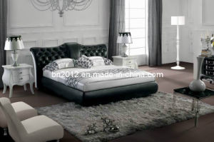 Modern Genuine Leather Bed (SBT-5820) pictures & photos