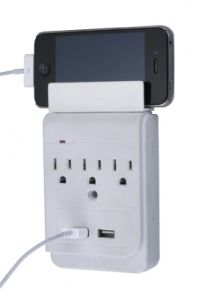 La-5A-a 3 Outlets Surge Protected Current Tap with USB Ports