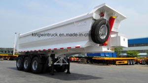 China Brand 27m3 Three Axles Rear Dump Semi Trailer