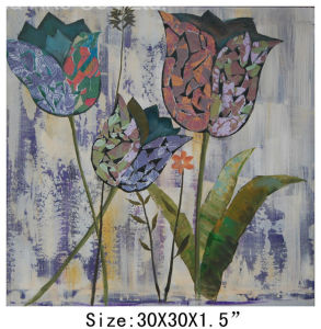 Best Price for Home Decoration Hand-Painted Tulip Oil Painting (LH-700563) pictures & photos