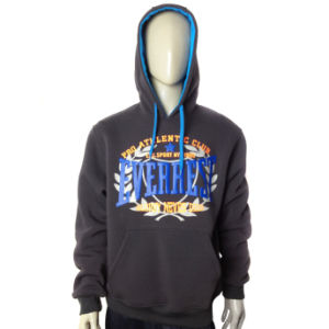New Design Fashion Spring Men Fleece Hooded Jacket pictures & photos