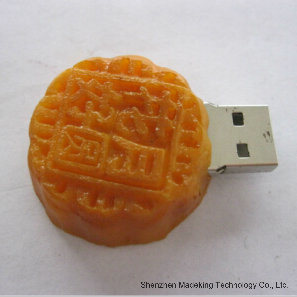 High Quality Biscuit Shape PVC USB Flash Drives USB Flash Memory pictures & photos