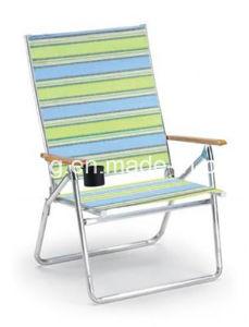 Outdoor Leisure Woodarmrest Aluminium Folding Chair