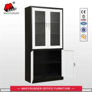 Kd Structure up Glass Door Down Metal Door Office Cupboard pictures & photos