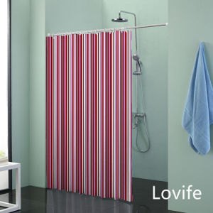 Shower Curtain Bathroom Waterproof Curtain (JG-216) pictures & photos