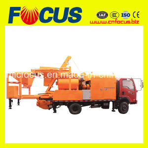 Truck Mounted Concrete Mixing Pump with Aggregate Weighting Hopper pictures & photos