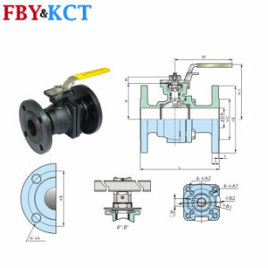 DIN Series Stainless Steel Flanged Ball Valve