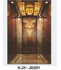 Kjx-Jd201upscale Hotel Elevator Car Ti-Golden pictures & photos