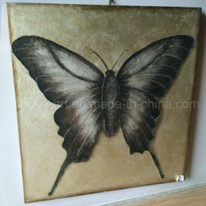 Oil Painted Butterfly on Foiled Canvas for Home Decor (LH-243000) pictures & photos