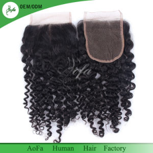 Cheap Lace Closure Top Quality Brazilian Virgin Hair Swiss Lace Closure pictures & photos
