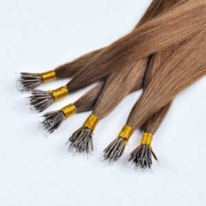 Top Quality Double Drawn Indian Remy Nano Ring Hair Extension pictures & photos