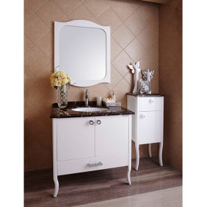 Oppein Rococo Style White Lacquered Plywood Bathroom Cabinet (OP14-015) pictures & photos