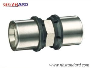 Brass Press Fitting of Coupling/Straight Coupling Fitting for Pex-Al-Pex Pipe pictures & photos