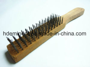 Steel Wire Brush with Wood Handle pictures & photos