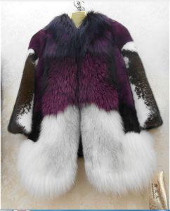 Mink Fur Coat Wiht Fox Fur Collar pictures & photos
