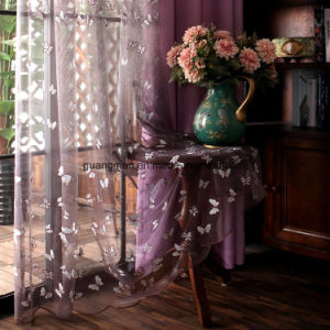 Butterfly Embroidered Tulle Curtains Gauze Fabric Curtains pictures & photos
