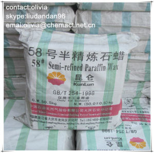 Kunlun Brand Semi Refined Paraffin Wax 58-60 Deg. C for Candle Making pictures & photos