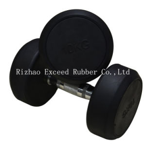 Fitness Equipment Gym Equipment of Fixed Rubber Dumbbell