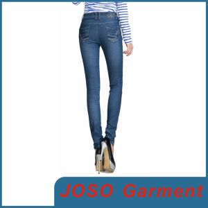 Women and Girls Lycra Cotton Skinny Denim Jeans (JC1059) pictures & photos