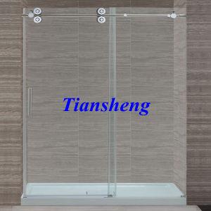 S. S304 Sliding Frameless Tempered Glass Shower Door pictures & photos