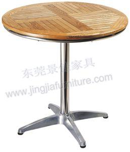 Wood Aluminium Hotel Restaurant Outdoor Garden Table (JJ-TR08)