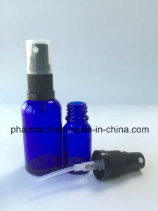 Blue Essential Oil Glass Bottle with Plastic Liquid Pressure Sprayer pictures & photos