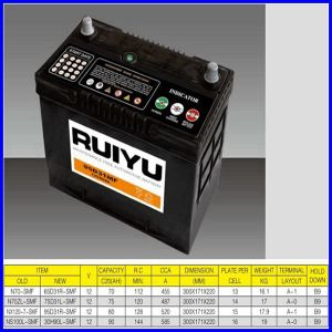 China Ruiyu Mf Car Battery 95D31r pictures & photos