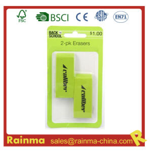 2-Pack Jumbo Green Eraser for Office pictures & photos