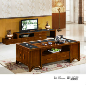 Wooden TV Stand Coffee Table, China Table (8668) pictures & photos