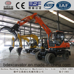 Shandong Baoding Bd80 Wheel Sugarcane Loading Machine Log Loader pictures & photos