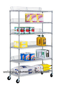 Metro Store Heavy Duty Industrial Chrome Wire Shelving with Ledge pictures & photos