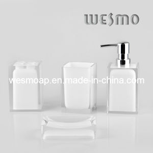 Transparent White Polyresin Bathroom Set (WBP0262D) pictures & photos