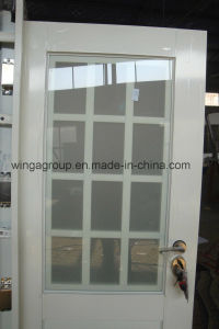 Middle East, Europ, USA French Wingawhitecolor Steel Glass Door (WGS-176A) pictures & photos