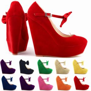 Women Lady Shoes High Heels Wedge Platform Wedding Sandals