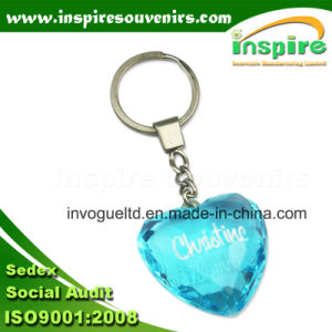 Light Blue Acrylic Stone Heart Keyring pictures & photos